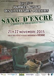 affiche du 21eme festival Sang d'encre par Yab